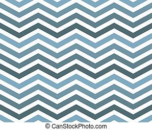 bleu, modèle, zigzag, fond