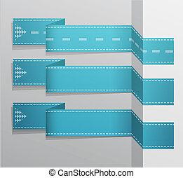 bleu, moderne, bannière, vecteur