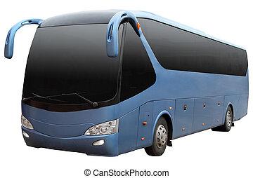 bleu, moderne, bus.