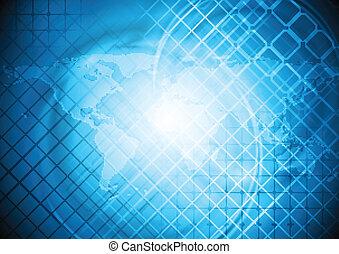 bleu, mondiale, conception, carte