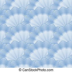 bleu, monochrome, vecteur, pattern., seamless