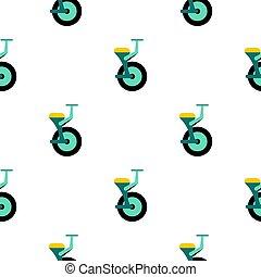 bleu, monocycle, seamless, modèle