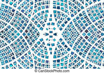 bleu, mosaïque