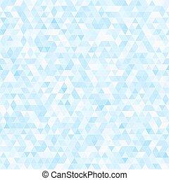 bleu, mosaïque, triangle, seamless, fond