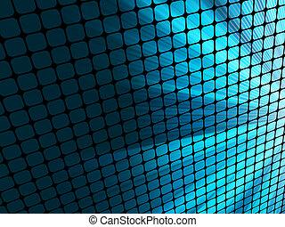 bleu, mosaic., rayons, lumière, eps, 8, 3d