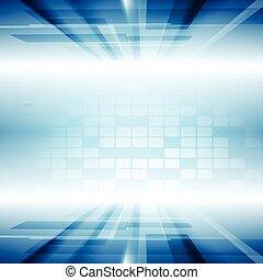 bleu, mouvement, clair, vecteur, fond, technologie