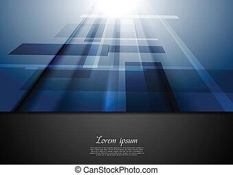 bleu, mouvement, vecteur, high-tech, fond