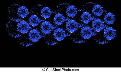 bleu, multiple, render, vibrant, feux artifice, 60, 4k, ...