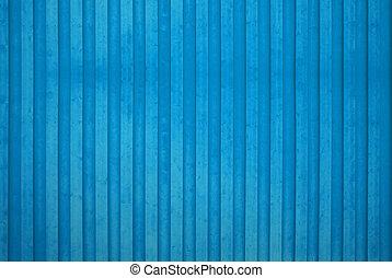 bleu, mur bois