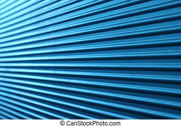 bleu, mur ondulé