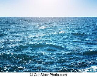 bleu, nature, composition, profond, sea.