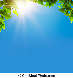bleu, naturel, résumé, arrière-plans, conception, sous, skies., ton