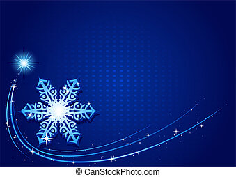 bleu, noël, flocon de neige