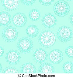 bleu, noël, flocons neige, classique, résumé, decoration., pattern., neige, illustration, seamless, arrière-plan., vecteur, template., pâle, noël, toile de fond