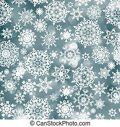 bleu, noël, fond, à, snowflake., eps, 8