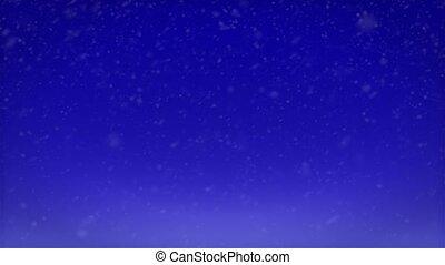 bleu, noël, fond, neige