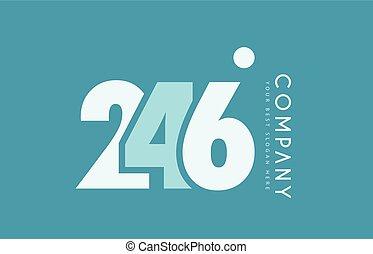 bleu, nombre, 246, conception, cyan, logo, blanc, icône