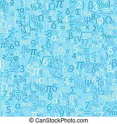 bleu, nombres, vecteur, fond
