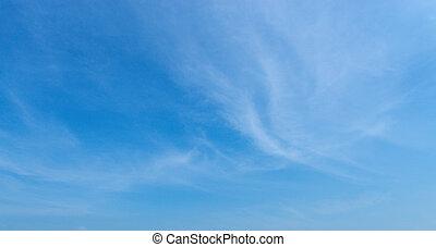 bleu, nuages, ciel, arrière-plan.
