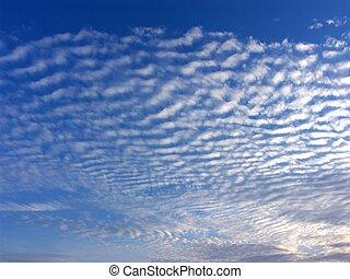 bleu, nuages, ciel