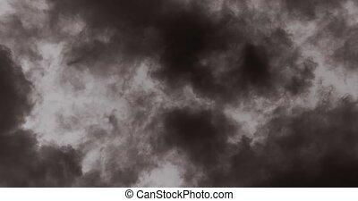 bleu, nuages, en mouvement, vrai, ciel, temps