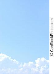bleu, nuages, lumière ciel