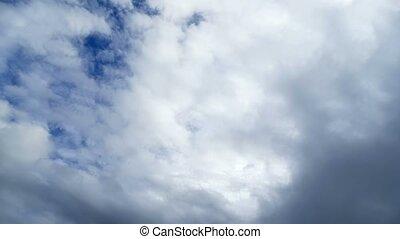 bleu, nuages, nature, défaillance, ciel, mouvement rapide, temps