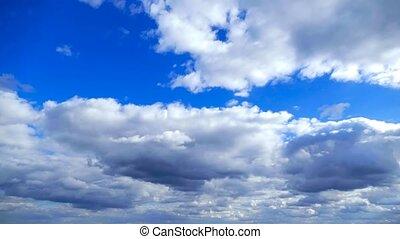 bleu, nuages, nature, défaillance, nuage ciel, temps, paysage