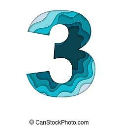 bleu, numéro trois