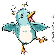 bleu, oiseau bébé