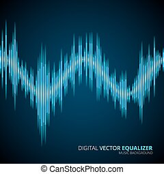 bleu, onde sonore