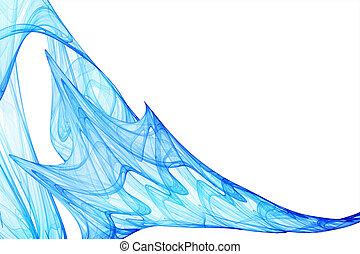 bleu, ondulé, fond