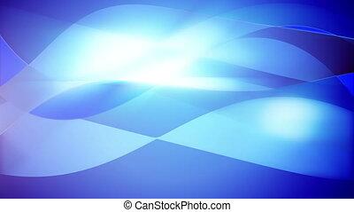 "bleu, ondulé, mouvement, ""smooth, beau, background"""