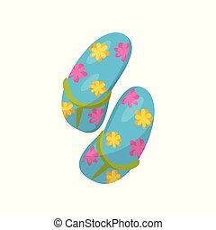 bleu, opérations virgule flottante, chiquenaude, illustration, vecteur, fond, paire, fleurs blanches