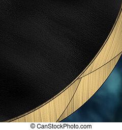 bleu, or, divisé, noir, raie, fond
