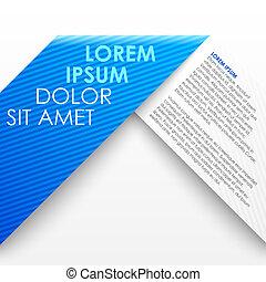 bleu, origami, papier, bannière