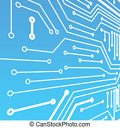 bleu, panneau ordinateur