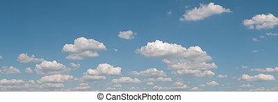 bleu, panorama, ciel