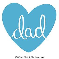 bleu, papa, coeur