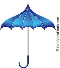 bleu, parapluie
