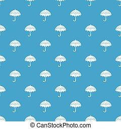 bleu, parapluie, ouvert, modèle, seamless, vecteur