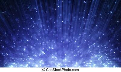 bleu, particules, boucle, fond