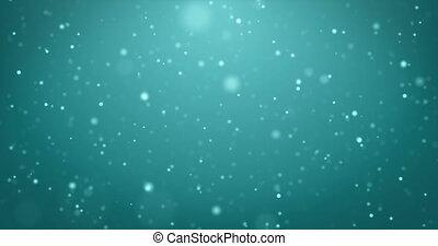 bleu, particules, en mouvement, boucle, fond