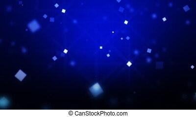 bleu, particules, en mouvement, boucle, hd.
