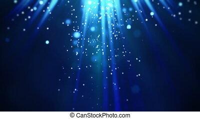 bleu, particules, magie, rayons légers