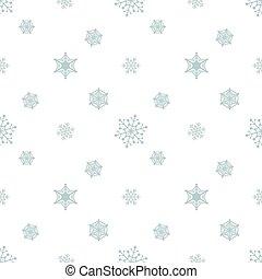 bleu, pastel, snowflake blanc, fond