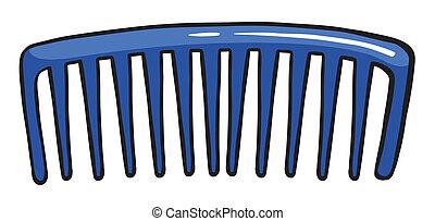bleu, peigne