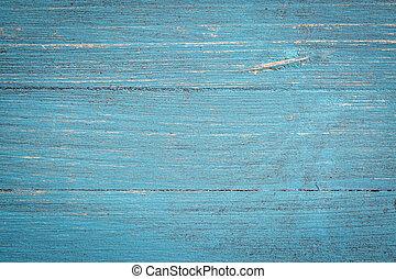 bleu, peint, bois, fond