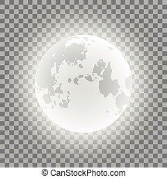 bleu, phases, illustration, lune, arrière-plan., vecteur, transparent
