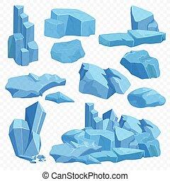 bleu, pierres, pierre, quartz, minéral, cristal, diamant, clair, poly, arrière-plan., jeu, ensemble, crystals., rocks., émeraude, rubis, transperant